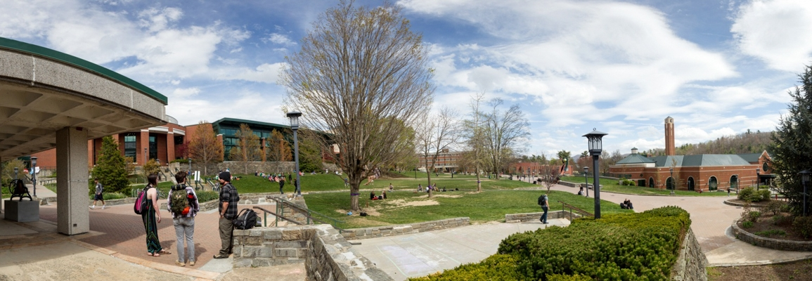 panoramic view of central campus